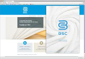 Écran d'accueil du site de BSC
